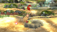 Olimar usando Arrancar Pikmin 2 SSB4 (Wii U)