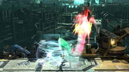 Toque final golpeando Cloud (2) SSB4 (Wii U)