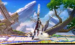 Ataque Smash hacia arriba Lucina SSB4 (3DS)