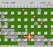 Bomba estallando en Bomberman (NES)