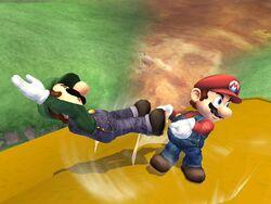 Lanzamiento hacia atrás (1) Mario SSBB