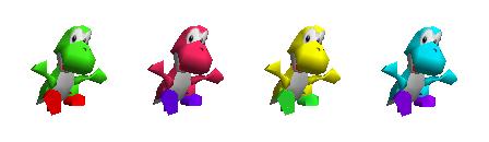 Paleta de colores Yoshi SSB