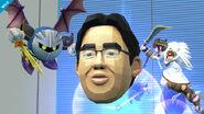 Pit y Meta Knight junto al Dr. Kawashima SSBWiiU