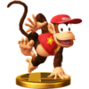 Trofeo de Diddy Kong SSB4 (Wii U)