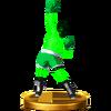 Trofeo de Little Mac (malla) SSB4 (Wii U)