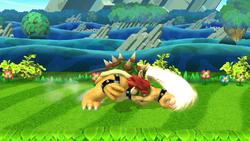 Ataque fuerte hacia abajo de Bowser (2) SSB4 (Wii U)