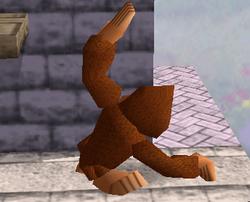 Ataque fuerte hacia arriba de Donkey Kong SSB