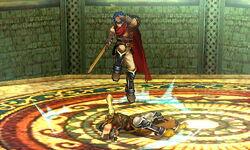 Lanzamiento hacia abajo Ike (2) SSB4 (3DS)