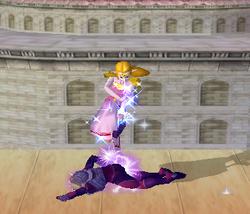 Lanzamiento hacia abajo de Zelda (2) SSBM