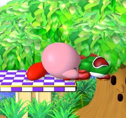 Lanzamiento trasero de Kirby (1) SSBM