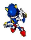 Pegatina Metal Sonic SSBB