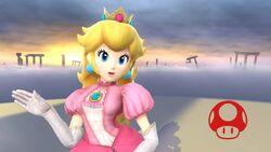 Pose de victoria (2) Peach SSB4 Wii U