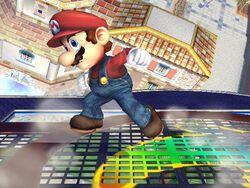 Ataque Smash hacia arriba (2) Mario SSBB
