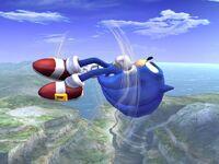 Ataque aéreo delantero Sonic SSBB