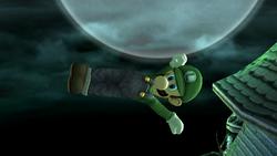 Ataque aéreo hacia atrás Luigi SSBB