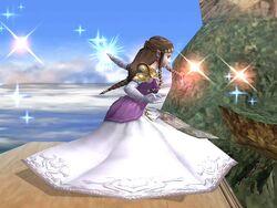 Ataque fuerte lateral Zelda SSBB