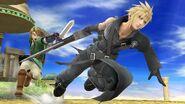 Cloud y Link en el Templo de Palutena SSB4 (Wii U)