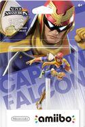 Embalaje del amiibo de Capitán Falcon (América)