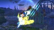 Espadachín Mii usando Carga de aura (2) SSB4 (Wii U)