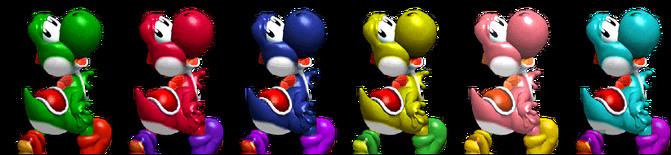 Paleta de colores Yoshi SSBM