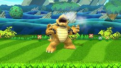 Pose de espera de Bowser (2-1) SSB4 (Wii U)