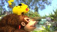 Salto banqueta de Pikachu sobre Donkey Kong SSB4 (Wii U)