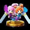 Trofeo de Kat y Ana SSB4 (Wii U)