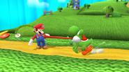 Yoshi usando puesta (1) SSB4 (Wii U)