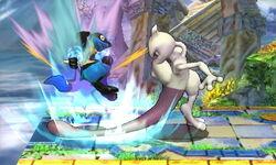Lanzamiento hacia abajo Mewtwo (2) SSB4 (3DS)