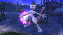 Ataque aéreo normal Mewtwo (2) SSB4 (Wii U)