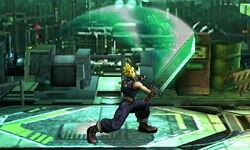 Ataque fuerte hacia arriba Cloud SSB4 (3DS)