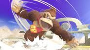 Donkey Kong usando Peonza Kong en SSBU