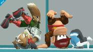 Fox y Donkey Kong en la Zona de entrenamiento SSB4 (Wii U)