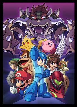 Ilustración de Mega Man SSB4
