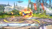 Karateka Mii usando Patada ardiente (2) SSB4 (Wii U)