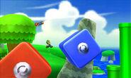 Mario y Luigi en el escenario Super Mario 3D Land SSB4 (3DS)