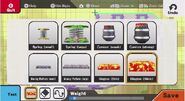 Opciones del editor de escenarios SSB4 (Wii U)