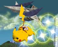 Pikachu usando ataque rápido SSBM