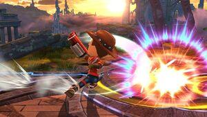 Ataque Smash hacia abajo (1) Tirador Mii SSB4 Wii U