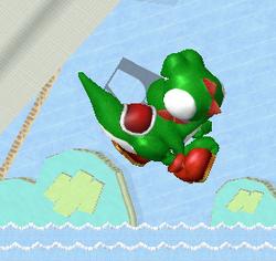 Ataque aéreo hacia atrás de Yoshi (1) SSBM