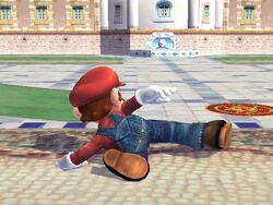 Ataque fuerte hacia abajo Mario SSBB