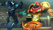 Créditos Modo Leyendas de la lucha Samus SSB4 (3DS)