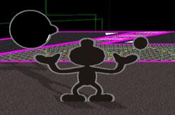 Lanzamiento hacia adelante Mr. Game & Watch (1) SSBM
