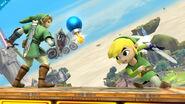 Link y Toon Link en Neburia - (SSB. for Wii U)