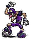 Pegatina de Waluigi Mario Smash Football SSBB
