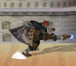 Ataque Smash hacia abajo de Ganondorf (1) SSBM