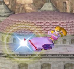 Ataque aéreo hacia atrás de Zelda SSBM