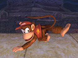 Ataque normal Diddy Kong SSBB (3)