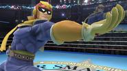 Captain Falcon haciendo una burla en el Cuadrilátero SSB4 (Wii U)