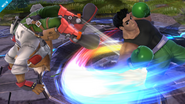 Little Mac atacando a Fox SSB4 (Wii U)
